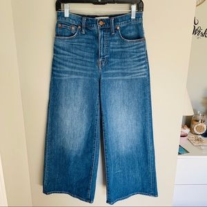 Madewell Jeans - Madewell Wide Leg Crop Jeans Finney Wash